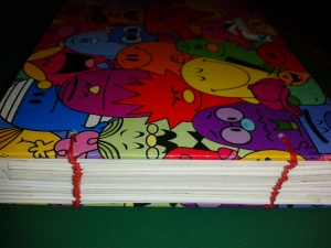 Mr Men Memory Book spine