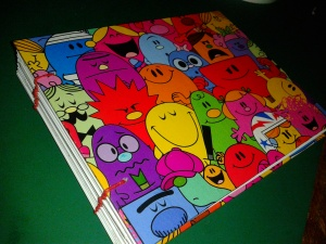 Mr Men memory book front cover